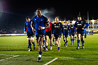 Semesa Rokoduguni of Bath Rugby leads his team-mates off the field during the pre-match warm-up. Premiership Rugby Cup match, between Bath Rugby and Gloucester Rugby on February 3, 2019 at the Recreation Ground in Bath, England. Photo by: Patrick Khachfe / Onside Images