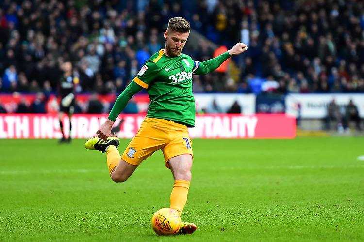 Preston North End's Paul Gallagher in action<br /> <br /> Photographer Richard Martin-Roberts/CameraSport<br /> <br /> The EFL Sky Bet Championship - Bolton Wanderers v Preston North End - Saturday 9th February 2019 - University of Bolton Stadium - Bolton<br /> <br /> World Copyright © 2019 CameraSport. All rights reserved. 43 Linden Ave. Countesthorpe. Leicester. England. LE8 5PG - Tel: +44 (0) 116 277 4147 - admin@camerasport.com - www.camerasport.com