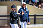Day 5. Royal Windsor Horse Show. Windsor. Berkshire. UK. Rolex Grand Prix.CSI5*. Rolex Grand Prix.CSI5*. Ben Maher and Emily Moffat walking the course. GBR. 13/05/2018. ~ MANDATORY Credit Elli Birch/Sportinpictures - NO UNAUTHORISED USE - 07837 394578