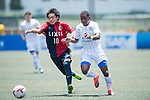 Leicester City (in white) vs Kashima Antlers (in red and black) during their Main Tournament match, part of the HKFC Citi Soccer Sevens 2017 on 27 May 2017 at the Hong Kong Football Club, Hong Kong, China. Photo by Marcio Rodrigo Machado / Power Sport Images