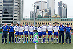 Referee officials pose for official photography during the Day 3 of the IRB Junior World Rugby Trophy 2014 at the Hong Kong Football Club on April 15, 2014 in Hong Kong, China. Photo by Xaume Olleros / Power Sport Images
