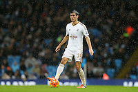 Jack Cork during the Barclays Premier League Match between Manchester City and Swansea City played at the Etihad Stadium, Manchester on 12th December 2015