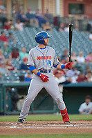 Amarillo Sod Poodles Owen Miller (14) at bat during a Texas League game against the Frisco RoughRiders on May 16, 2019 at Dr. Pepper Ballpark in Frisco, Texas.  Frisco defeated Amarillo 5-4.  (Mike Augustin/Four Seam Images)
