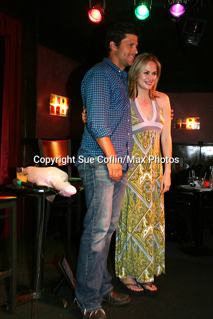 General Hospital's Greg Vaughan and Natalia Livingston appear at the Brokerage Comedy Club on August 8, 2009 in Bellmore, New York. Autographs, photos and Q & A at the VIP Reception. (Photo by Sue Coflin/Max Photos)