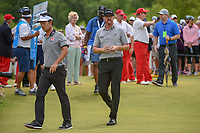 Kevin Na (USA) and Jimmy Walker (USA) make their way down 1 during round 4 of the AT&T Byron Nelson, Trinity Forest Golf Club, at Dallas, Texas, USA. 5/20/2018.<br /> Picture: Golffile | Ken Murray<br /> <br /> All photo usage must carry mandatory copyright credit (© Golffile | Ken Murray)