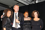 """Tamara Tunie - Deb Koenigsberger and Marcia Gay Harden who presents Hearts of Gold Angel Award to Michael Barrett at The Fourteenth Annual Hearts of Gold Gala """"Hooray for Hollywood!"""" - with its mission to foster sustainable change in lifestyle and levels of self-sufficiency for homeless mothers and their children on October 28, 2010 at the Metropolitan Pavillion, New York City, New York. (Photo by Sue Coflin/Max Photos)"""