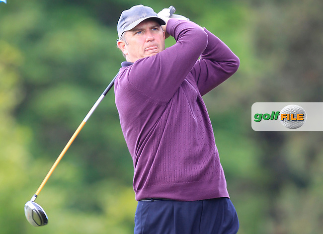 Liam Halpin (Westport) on the 15th tee during the Semi-Finals of the Connacht Barton Shield at Galway Golf Club on Sunday 7th June 2015.<br /> Picture:  Thos Caffrey / www.golffile.ie