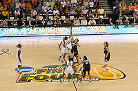 6 April 2008: Stanford Cardinal Jayne Appel, Rosalyn Gold-Onwude, Kayla Pedersen, and JJ Hones during Stanford's 82-73 win against the Connecticut Huskies in the 2008 NCAA Division I Women's Basketball Final Four semifinal game at the St. Pete Times Forum Arena in Tampa Bay, FL.
