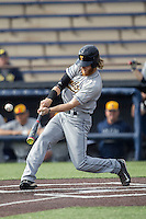 Toledo Rockets outfielder Jake Krupar (16) swings the bat against the Michigan Wolverines on April 20, 2016 at Ray Fisher Stadium in Ann Arbor, Michigan. Michigan defeated Bowling Green 2-1. (Andrew Woolley/Four Seam Images)