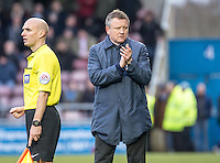 Northampton Town Manager Chris Wilder at the final whistle during the Sky Bet League 2 match between Northampton Town and Wycombe Wanderers at Sixfields Stadium, Northampton, England on the 20th February 2016. Photo by Liam McAvoy.