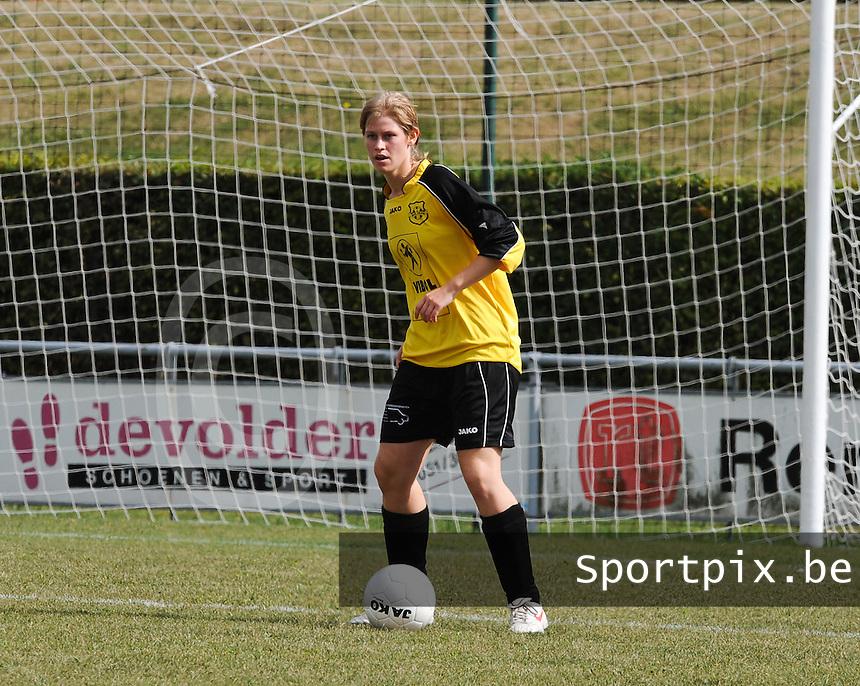 DVK Egem : Sharon Vervaeke.foto DAVID CATRY / Vrouwenteam.be