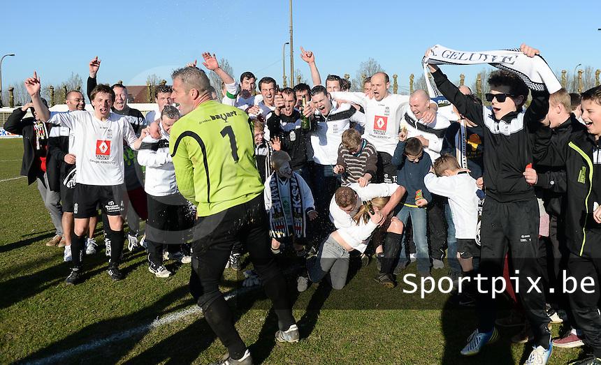 SK Geluwe Kampioen 2013-2014 in 3de provinciale B <br /> foto VDB / BART VANDENBROUCKE