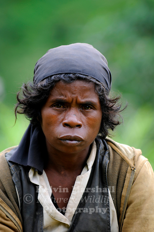 A portrait shot of a local Malagasy lady. Moramanga - Central Madagascar.