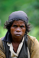 A portrait shot of a local Malagasy lady. Moramanga - Central Madagascar.