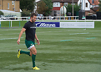 during the RFU Championship Cup match between Ealing Trailfinders and Ampthill RUFC at Castle Bar , West Ealing , England  on 28 September 2019. Photo by Alan  Stanford / PRiME Media Images