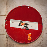 Do Not Enter sign on the street, Sineu, Mallorca