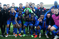 Maldon players celebrate victory during Leyton Orient vs Maldon & Tiptree, Emirates FA Cup Football at The Breyer Group Stadium on 10th November 2019