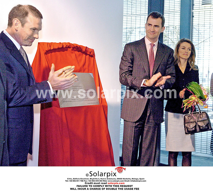 ALL ROUND  PICTURES FROM SOLARPIX.COM .MUST CREDIT SOLARPIX.COM OR DOUBLE FEE.Prince Felipe and Princess Letizia of Spain, in San Sebastian at Inauguration of new Seat of Commerce, Industry and Navigation of Guipuzcoa...DATE:17.03.06  JOB REF: 2194 SPA.**NOT FOR PUBLICATION IN SPAIN**