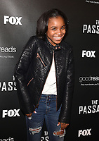 """LOS ANGELES - JANUARY 9: Saniyya Sidney attends an advanced screening and Q&A of FOX's """"The Passage"""" at the AMC Century City 15 on January 9, 2019, in Los Angeles, California. (Photo by Frank Micelotta/Fox/PictureGroup)"""