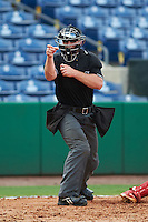 Umpire Chris Marco during an instructional league game between the New York Yankees Philadelphia Phillies on September 29, 2015 at Brighthouse Field in Clearwater, Florida.  (Mike Janes/Four Seam Images)