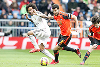Real Madrid's Marcelo Vieira (l) and Real Sociedad's Imanol Agirretxe during La Liga match.January 31,2015. (ALTERPHOTOS/Acero) /NortePhoto<br />