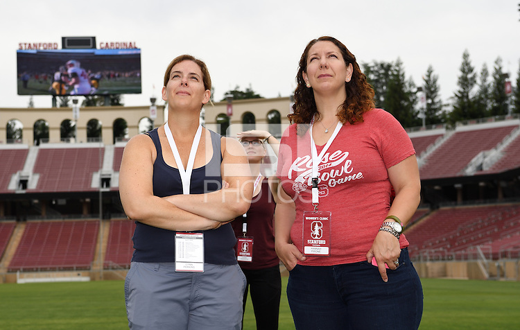 Stanford, CA; Saturday June 4, 2016; Football Woman's Clinic.