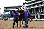November 2, 2018: Bulletin #5, ridden by Javier Castellano, wins the Juvenile Turf Sprint on Breeders' Cup World Championship Friday at Churchill Downs on November 2, 2018 in Louisville, Kentucky. Kaz Ishida/Eclipse Sportswire/CSM