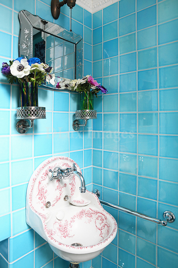 light blue wall tiles