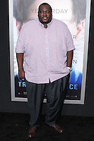 "WESTWOOD, LOS ANGELES, CA, USA - APRIL 10: Quinton Aaron at the Los Angeles Premiere Of Warner Bros. Pictures And Alcon Entertainment's ""Transcendence"" held at Regency Village Theatre on April 10, 2014 in Westwood, Los Angeles, California, United States. (Photo by Xavier Collin/Celebrity Monitor)"