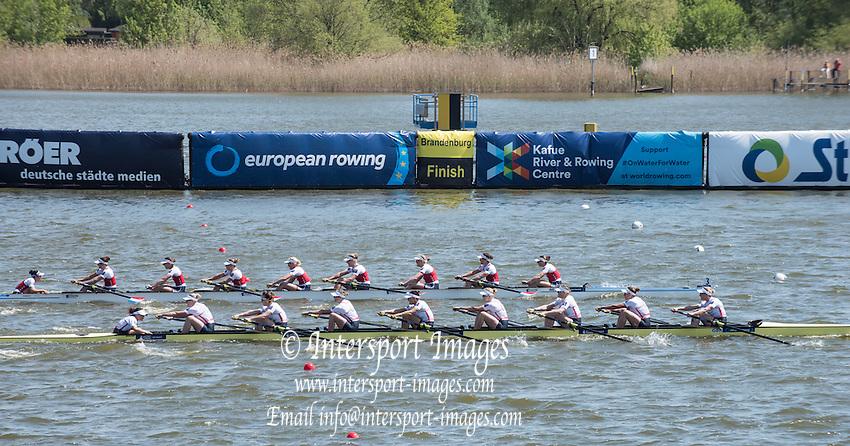 Brandenburg. GERMANY.<br /> 2016 European Rowing Championships at the Regattastrecke Beetzsee<br /> <br /> Sunday  08/05/2016<br /> <br /> [Mandatory Credit; Peter SPURRIER/Intersport-images]