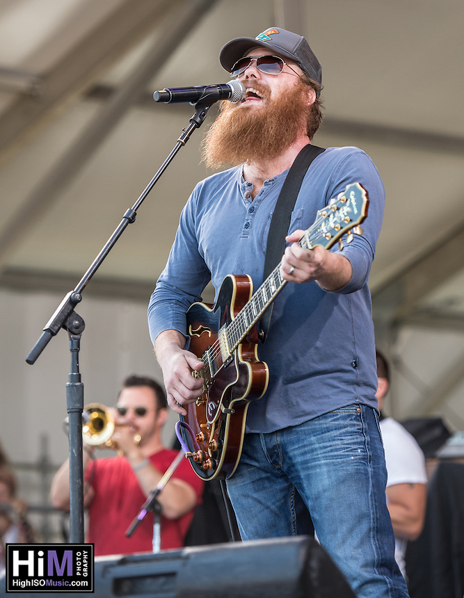 Marc Broussard performs at the 2014 Jazz and Heritage Festival in New Orleans, LA.