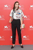 VENICE, ITALY - AUGUST 29: Canadian actress Hannah Gross attends the 75th Venice Film Festival photocall for The Mountain at Sala Casino on August 30, 2018 in Venice, Italy.<br /> CAP/BEL<br /> &copy;BEL/Capital Pictures