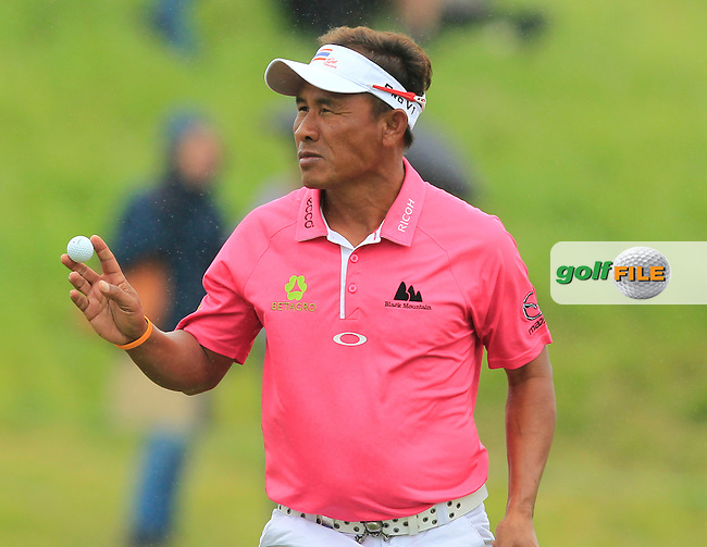 Thongchai Jaidee (THA) on the 9th green during Round 4 of the 100th Open de France, played at Le Golf National, Guyancourt, Paris, France. 03/07/2016. <br /> Picture: Thos Caffrey | Golffile<br /> <br /> All photos usage must carry mandatory copyright credit   (&copy; Golffile | Thos Caffrey)