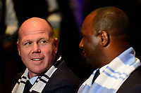 Philadelphia, PA - Friday January 19, 2018: Brad Friedel, Patrick Vieira during the 2018 MLS SuperDraft at the Pennsylvania Convention Center.
