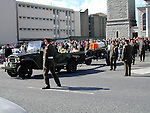 The remains of Bernard mcDonagh are brought from Our Lady of Lourdes Church..Picture Paul Mohan Newsfile