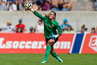 Bridgeview, IL - Saturday July 22, 2017: Alyssa Naeher during a regular season National Women's Soccer League (NWSL) match between the Chicago Red Stars and the Orlando Pride at Toyota Park. The Red Stars won 2-1.