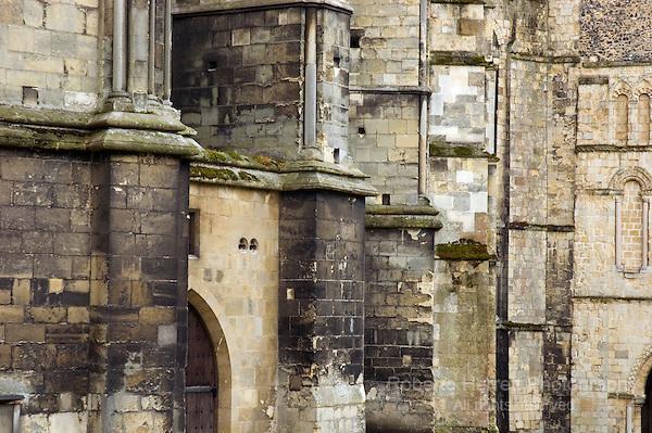 Cathedral Walls, Canterbury, Kent, England UK