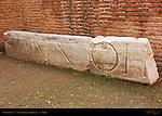 Senatorial Nameplate Colosseum Rome
