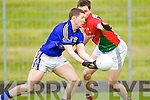 Kieran O'Leary Kerry in action against Colm Boyle Mayo in the National Football League in Austin Stack Park on Sunday..