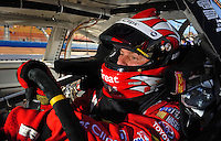 Apr 17, 2009; Avondale, AZ, USA; NASCAR Nationwide Series driver Jason Leffler during qualifying prior to the Bashas Supermarkets 200 at Phoenix International Raceway. Mandatory Credit: Mark J. Rebilas-