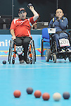 November 16 2011 - Guadalajara, Mexico: Canada's Dave Richer during her Bronze medal match against Brazil's Luise Lisboa in the Multipurpose Gymnasium Revolución at the 2011 Parapan American Games in Guadalajara, Mexico.  Photos: Matthew Murnaghan/Canadian Paralympic Committee