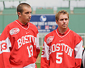 Nick Bonino (Boston University - Alternate Captain), Dave Warsofsky (Boston University - player) - A press conference hosted by the Hockey East Association, the Boston Red Sox and Fenway Sports Group was held on Thursday, August 20, 2009, at Fenway Park in Boston, MA, to announce that there would be a Hockey East college hockey doubleheader on Friday, January 8, 2010, held on the ice that will be used for the January 1, 2010 NHL Winter Classic.  The afternoon (4:00 pm EST) match will be between the Northeastern University Huskies (home team) and University of New Hampshire Wildcats women's teams while the evening (7:30 pm EST) match will be between the Boston College Eagles (home team) and the Boston University Terriers men's teams.