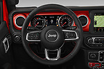 Car pictures of steering wheel view of a 2020 Jeep Gladiator Rubicon 4 Door Pick Up