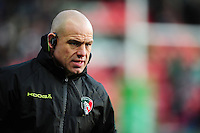 Leicester Tigers Director of Rugby Richard Cockerill looks on during the pre-match warm-up. European Rugby Champions Cup match, between Leicester Tigers and Munster Rugby on December 17, 2016 at Welford Road in Leicester, England. Photo by: Patrick Khachfe / JMP