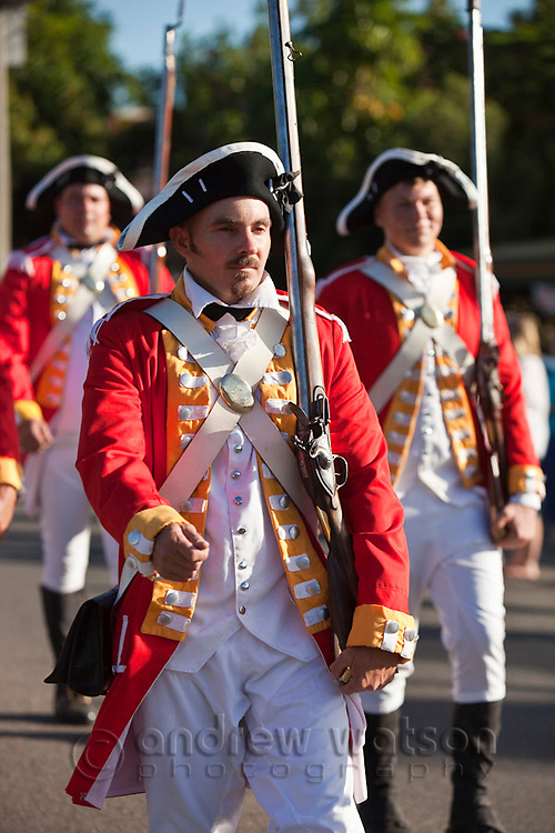 Parade along Charlotte Street during Cooktown Discovery Festival.  The festival, held in June, celebrates the landing of Captain James Cook in 1770.  Cooktown, Queensland, Australia