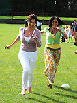 Karen Heavey and kathleen Tiernan running in the mothers race at the O'Raghalligh's sports day. Photo: www.pressphotos.ie