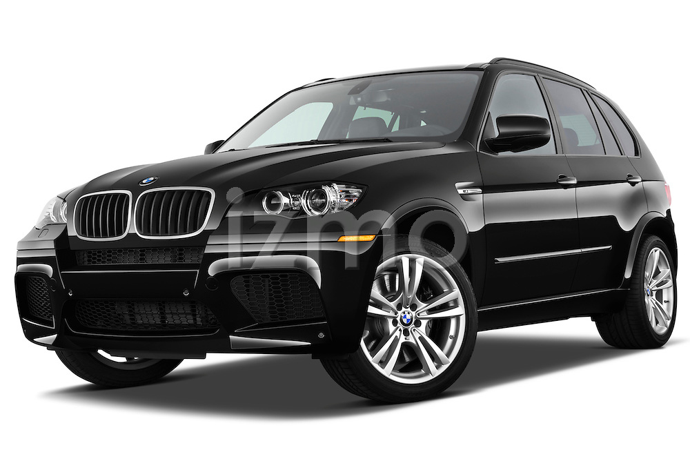 Low aggressive front three quarter view of a 2013 BMW X5 M .