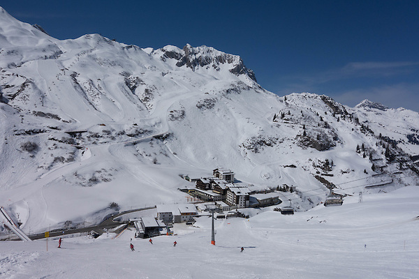 Under the Hexenboden Chairlift, Zurs Ski Area, Austria