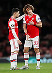 David Luiz of Arsenal goes off injured during the UEFA Europa League match at the Emirates Stadium, London. Picture date: 28th November 2019. Picture credit should read: David Klein/Sportimage