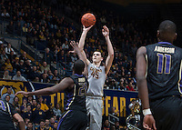 Berkeley, CA - January 2, 2015: California Golden Bears' 81-75 victory against Washington Huskies during NCAA Men's Basketball game at Haas Pavilion.